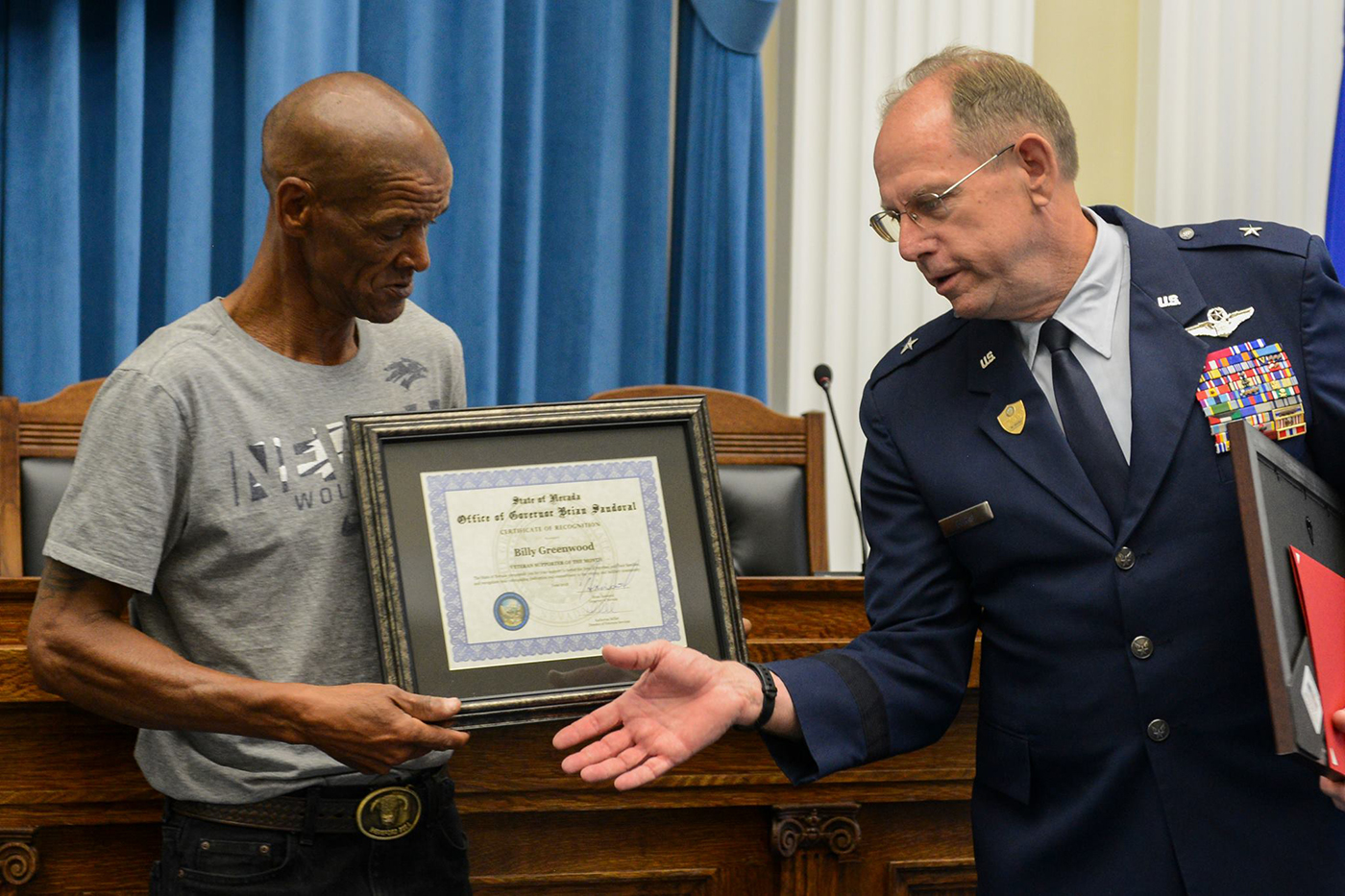 Nevada Guard Adjutant General named Veteran of the Month